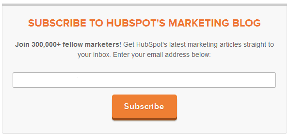 HubSpot eksempel CTA epostabonnenter på nyhetsbrev skjema.png
