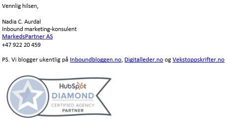 Eksempel e-postsignatur