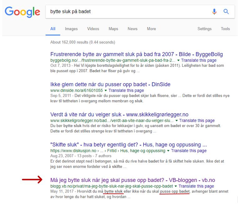 VB eksempel keywords bytte sluk google resultat.png