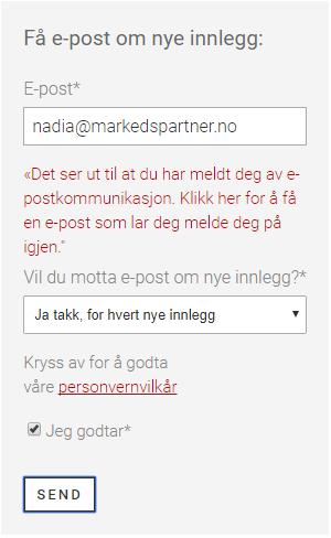 MarkedsPartner - skjemavarsel