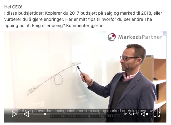 Deling av video på LinkedIn