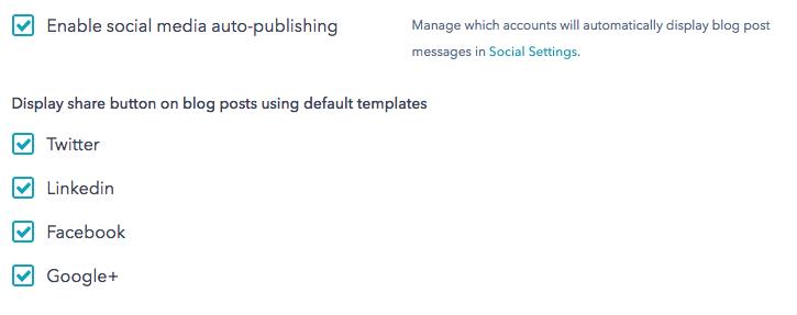 Sosiale medier settings i HubSpot