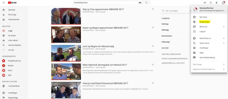 YouTube - Sluttskjerm fremgangsmåte