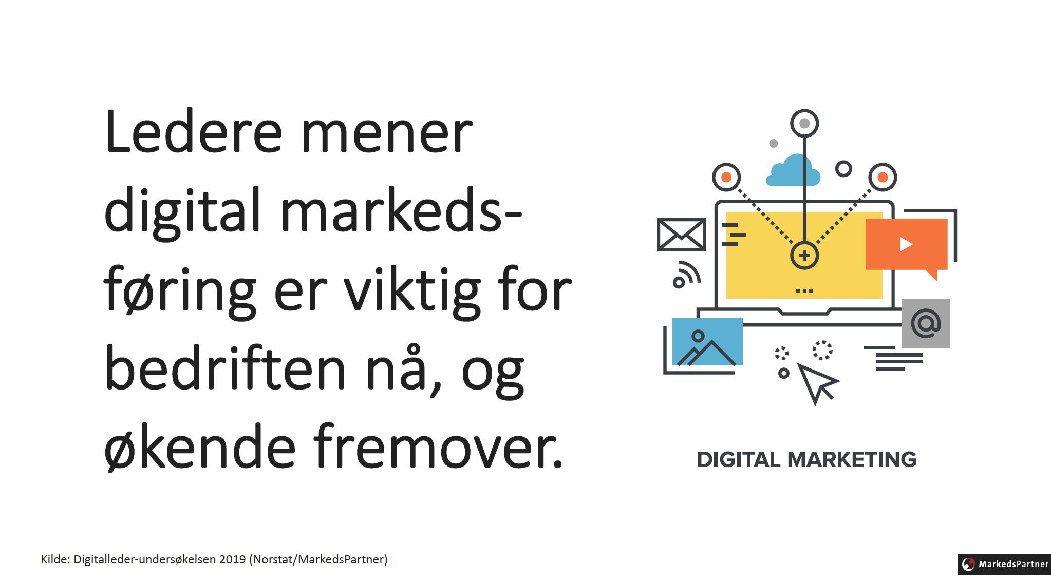 Digital markedsføring stadig viktigere
