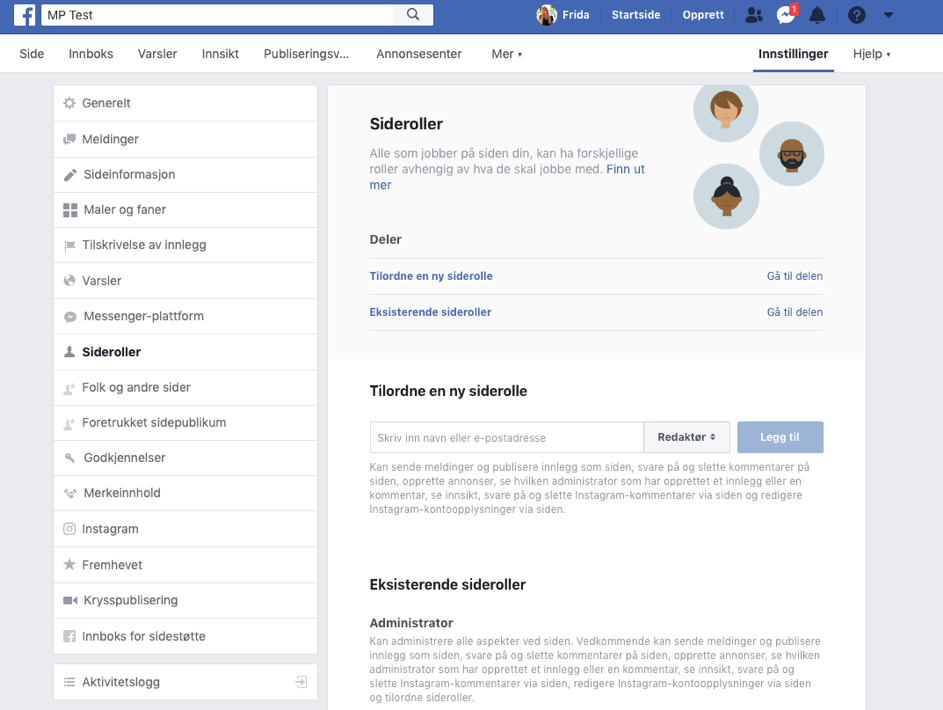 Sideroller Facebook bedriftsside