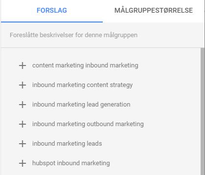 slik lager du tilpassede intensjonsmålgrupper i Google ads søkeord