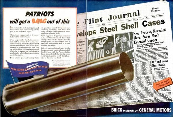 Utklipp fra markedskampanjen til General Motors da de reposisjonerte seg i markedet under andre verdenskrig