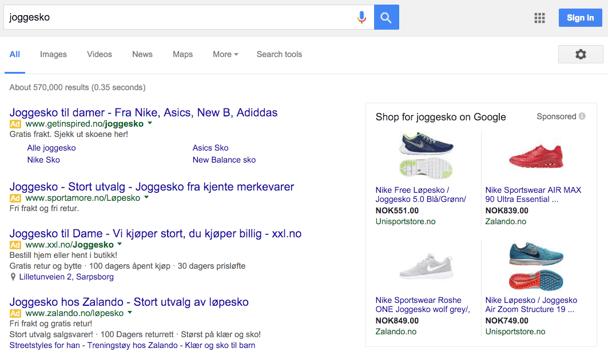 Nettbutikkeiere er til dels unntatt fra de nye endringene hos Google Adwords