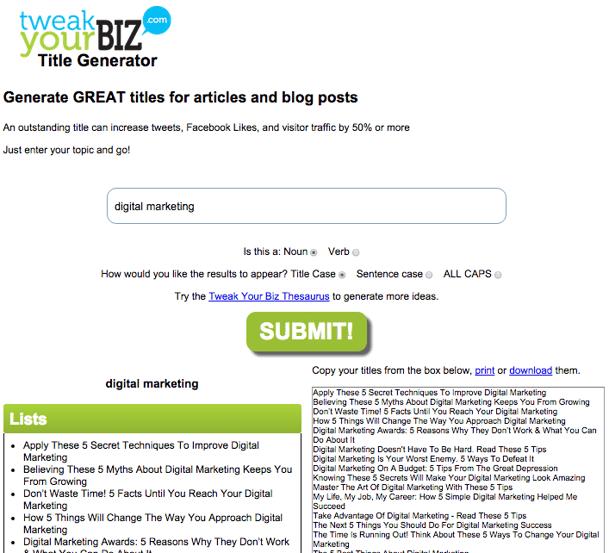 TweakYourBIZ-overskrift-generator