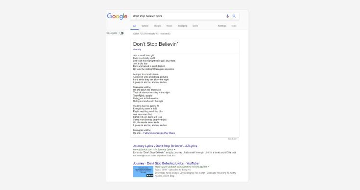 Google Rich Answers 2