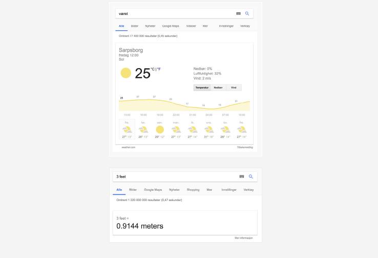 Google Rich Answers