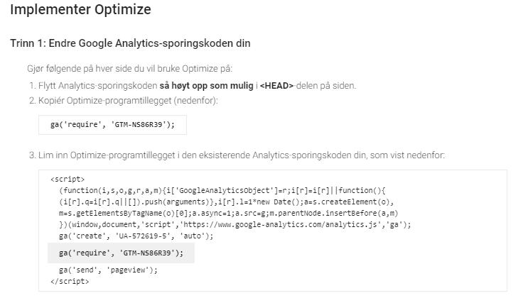 Google optimize 3