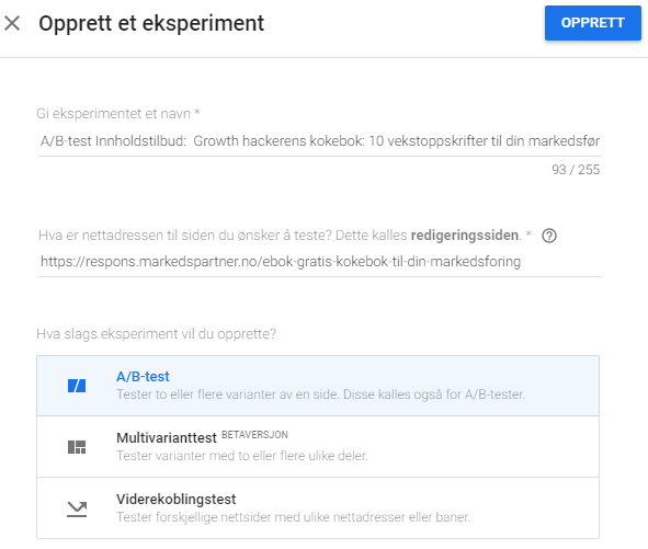 Google optimize 4
