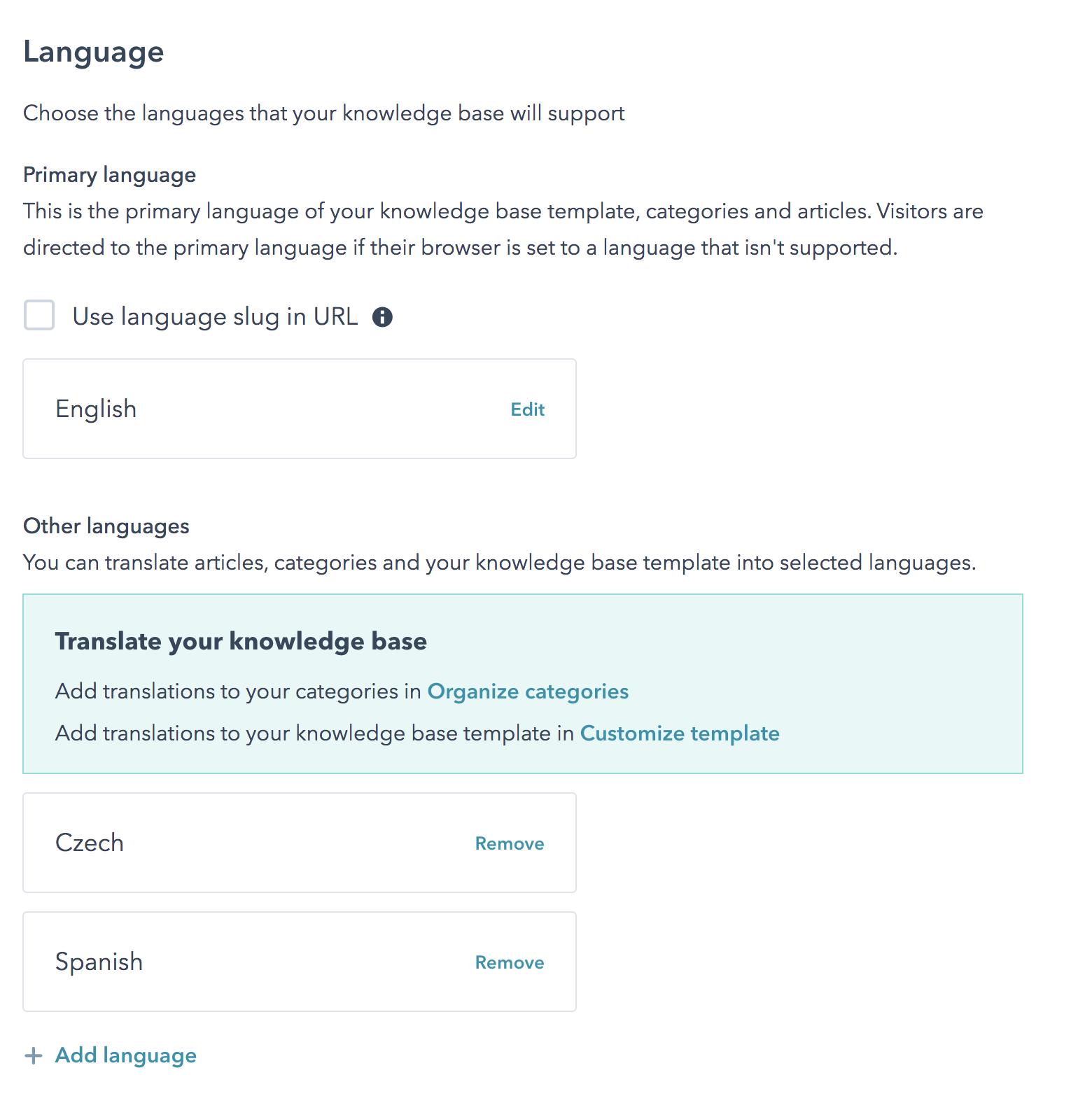multi language flerspråklig hubspot knowledgebase