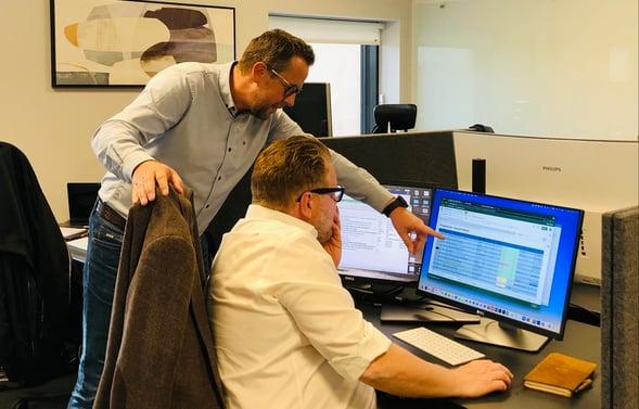 Magne Henriksen og Steffen Fjærvik i MarkedsPartner