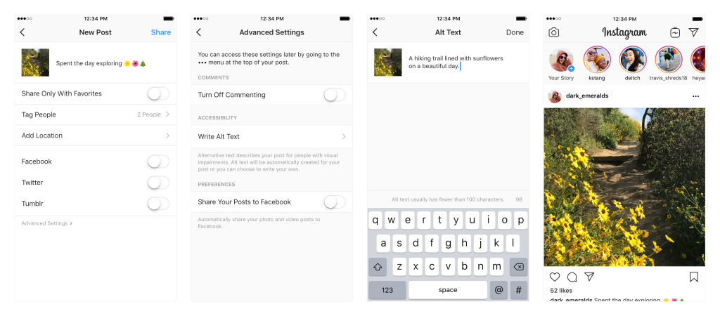Instagram alt-tekst
